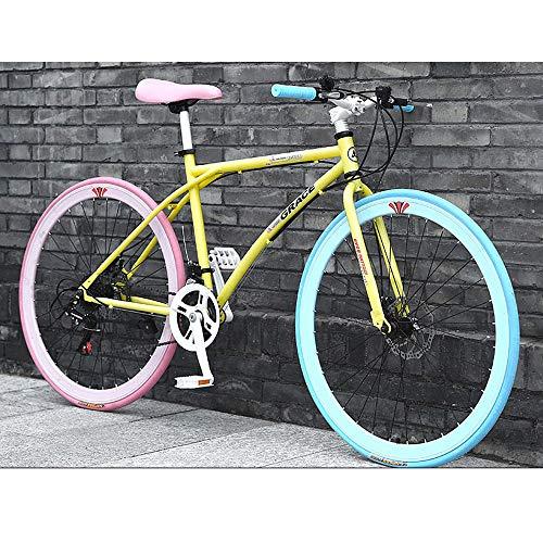 YXWJ 24/26 pulgadas de carbono de bicicletas de montaña bicicletas de acero marco de una velocidad 24 de aleación de aluminio de bicicletas de montaña mecánico doble freno de disco de biciclet