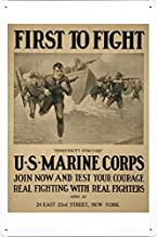 World War I One Tin Sign Metal Poster (reproduction) of First to fight -