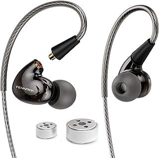 Tennmak Pro Dual Dynamic Driver Detachable Sport Earhook Detachable in Ear Earphones, MMCX Earphone with 4 Drivers (Black ...