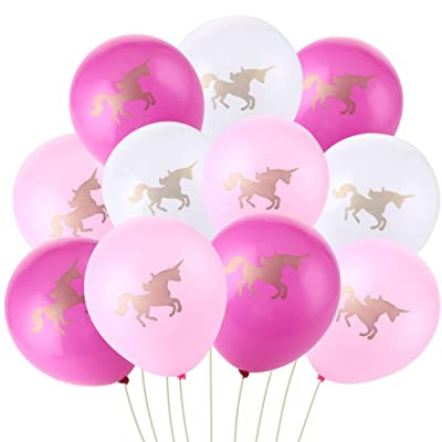 """36 Pack Unicorn Balloons Decorations 10"""" Pink R..."""