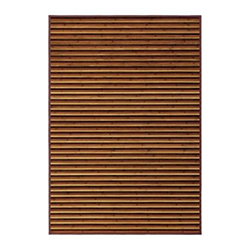 Alfombra de salón de bambú marrón de 140x200 cm - LOLAhome