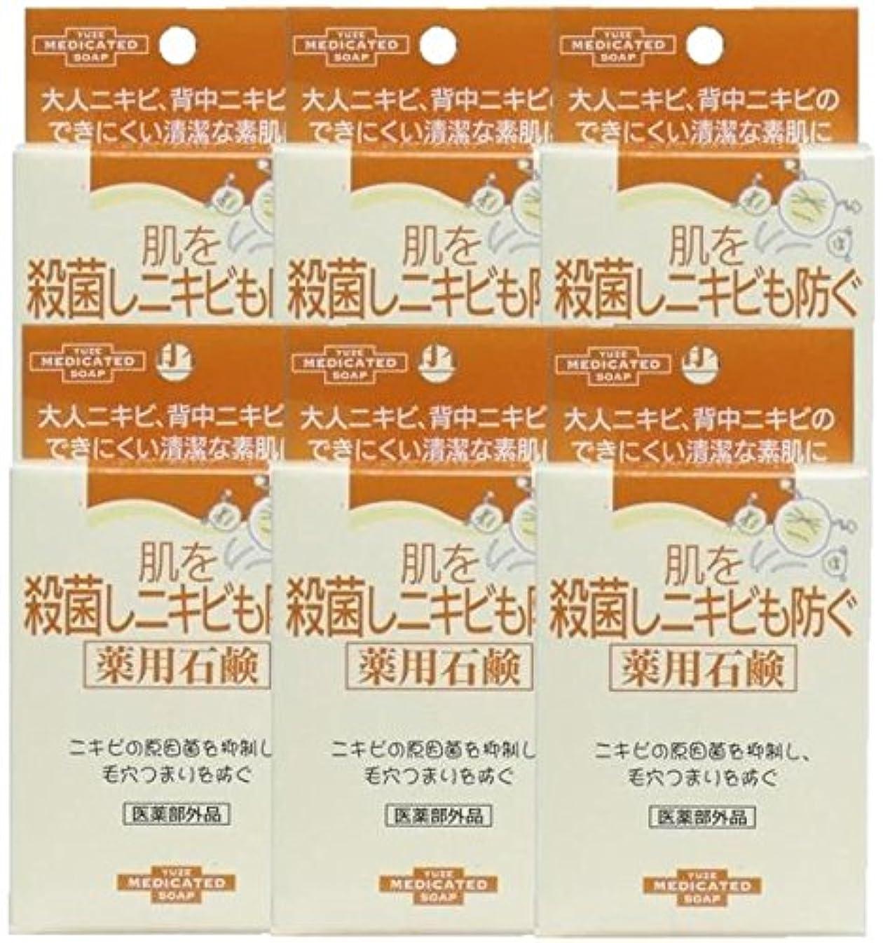 不調和騒々しい欺ユゼ 肌を殺菌しニキビも防ぐ薬用石鹸 (110g)×6個セット
