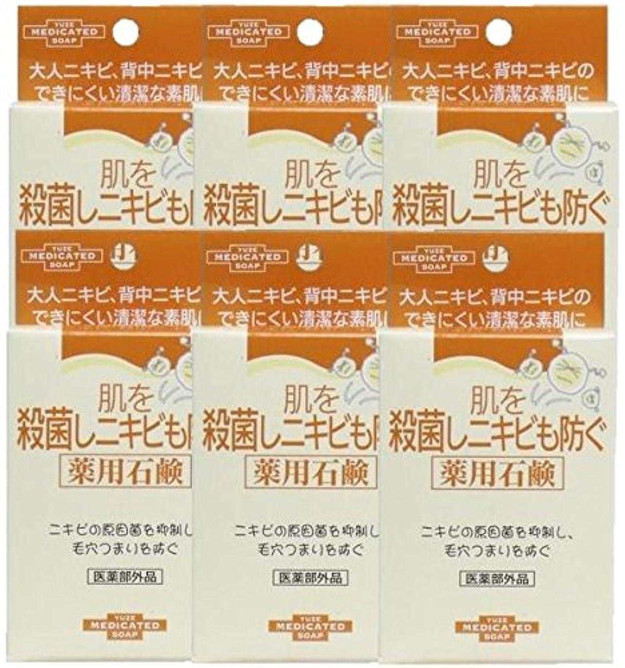 ミント目指す副ユゼ 肌を殺菌しニキビも防ぐ薬用石鹸 (110g)×6個セット