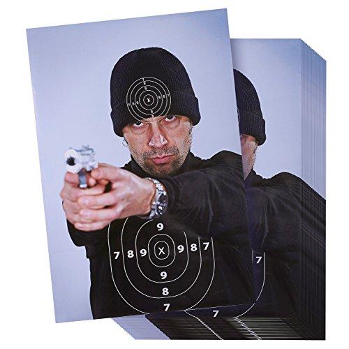 """Best Paper Greetings 50 Blatt Zielscheiben zum Schießen – Zielscheiben """"Bad Guy"""" im Street Thug Stil für Schusswaffen, Gewehre, Pistolen, BB Pistolen, Airsoft Schießübungen – 43,2 x 63,5 cm"""
