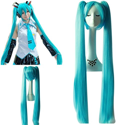 mujeres Hatsune Miku Cielo Azul Super Long Doble...
