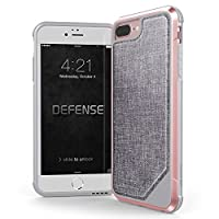 X-Doria iPhone 8 Plus, iPhone 7 Plus, iPhone 6 Plus Case, Defense Lux Series - Military Grade Drop Tested Case for Apple iPhone 8 Plus, iPhone 7 Plus & iPhone 6 Plus (Rose Gold)