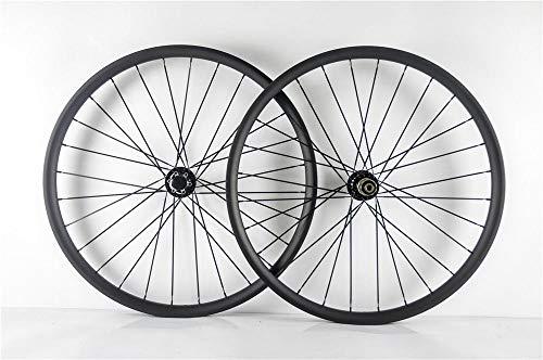 FidgetGear 29ER MTB - Juego de Ruedas de Carbono para Bicicleta (25 mm de Profundidad, 35 mm de Ancho, Ruedas de Carbono XC)