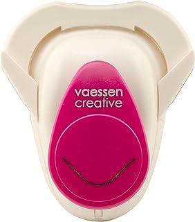 Vaessen creative 21489-661 Perforatrice pour Coins Ronds M, Plastique, Rose, 14,5 x 10 x 5,1 cm