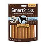 SmartBones SmartSticks With Real Peanut Butter 12 Count, Rawhide-Free...