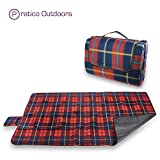 Extra Large Picnic Blanket & Outdoor Beach Blanket - Red 60 x 80 Inches