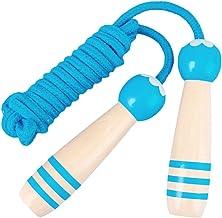 NUOBESTY Houten Handvat Springen Touwen Verstelbare Springtouw Fitness Skipping Touwen Voor Oefening Outdoor Activiteit (B...