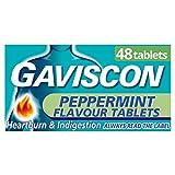 Gaviscon Peppermint Flavour 48 Chewable Tablets