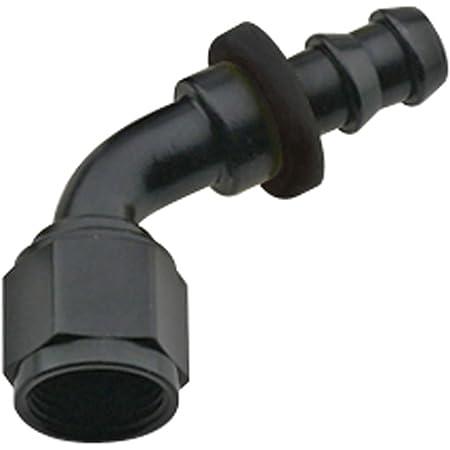 90/° Push Lock Hose Fitting -8 Fragola FRG209008-BL Black Size