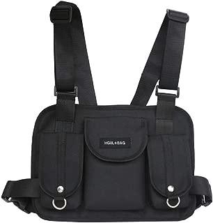 Men Tactical Chest Rig Waist Bag Hip Hop Street Wear Shoulder Bag