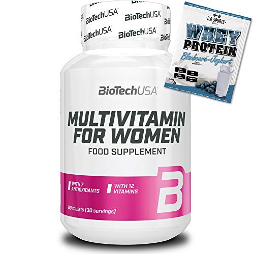 BioTech USA Multivitamin for Women + C.P. Sports 25g Whey Protein Testbeutel