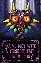 The Legend of Zelda Póster Terrible Fate, Majora'S Mask (61cm x 91,5cm) + 2 Marcos Negros para póster con suspención