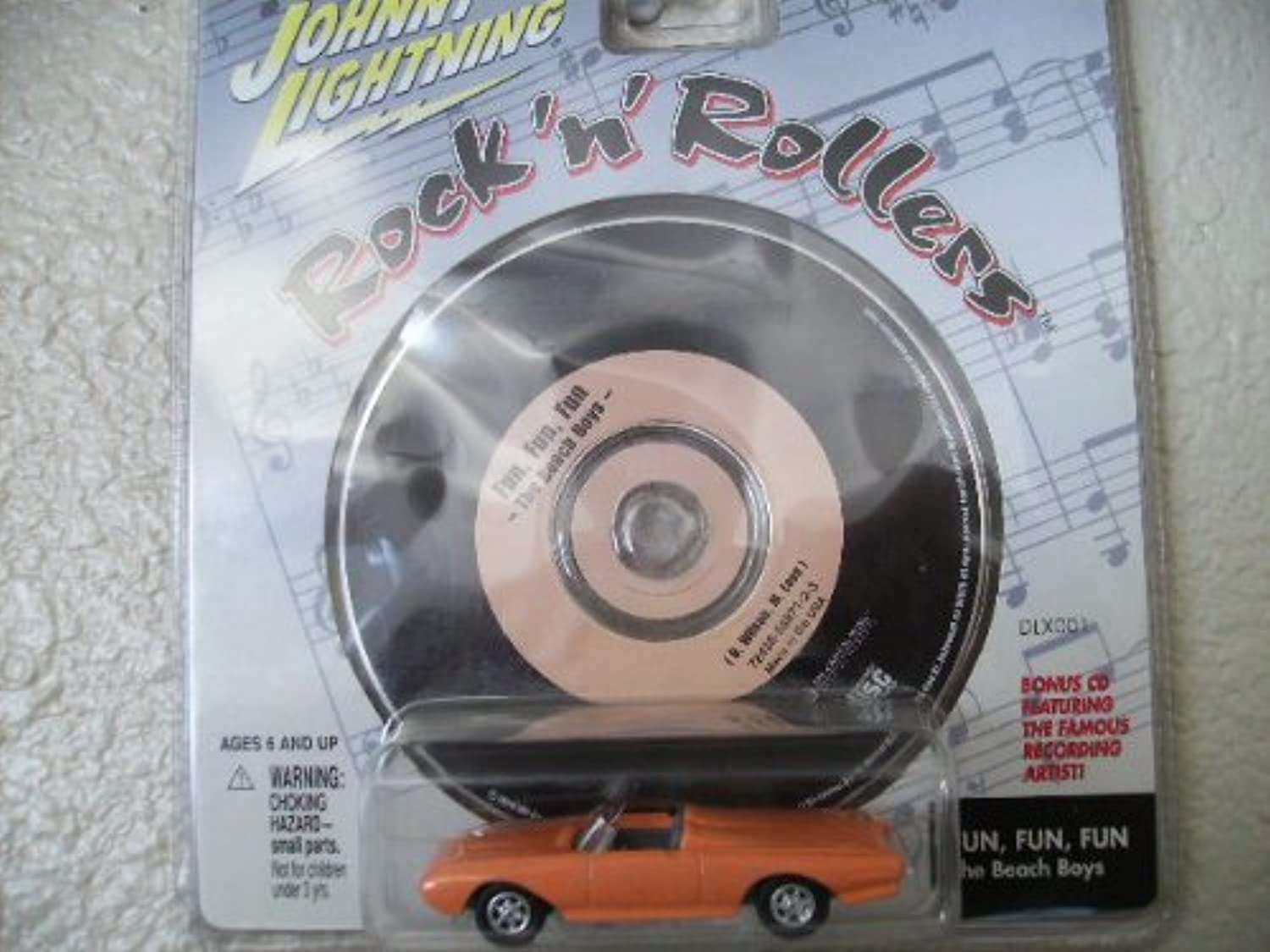 Johnny Lightning Rock N Roller Bad Tbird with Music Cd Fun Fun Fun By the Beach Boys by Playing Mantis