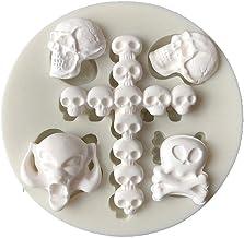 N/R 1 PCS Serie de Calaveras de Halloween Molde de Silicona líquida Herramientas de Modelado de Arcilla de cerámica Suave para Pasteles, Blanco