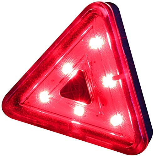Jsdufs Luces traseras de Bicicleta Luces traseras LED Triangulares para Bicicletas con 4 métodos de iluminación Luces de Bicicleta LED Recargables por USB a Prueba de Agua Lámpara de Bicicleta