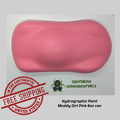 Base Coat - Muddy Girl Pink - 6oz Aerosol - Hydro Film Dip Paint - Hydrographics Film - Hydro Dip Film - Hydrographic Film - Water Transfer Printing - Hydro Dipping