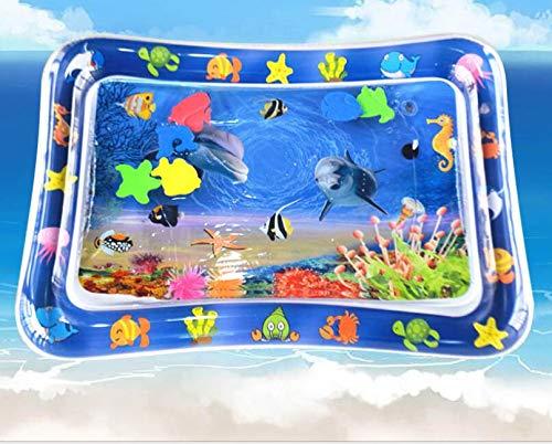 Alfombra Inflable con Agua, Alfombra de Juego de Agua para Bebé, PVC Inflable Alfombra de Juego, para Entretenimiento de Agua y la Estimulación del Crecimiento de Bebé (69 x 55cm)
