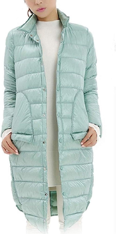 Aehoor Warm Winter Thin 90% Duck Down Jacket Women Long Female with Pocket Outwear