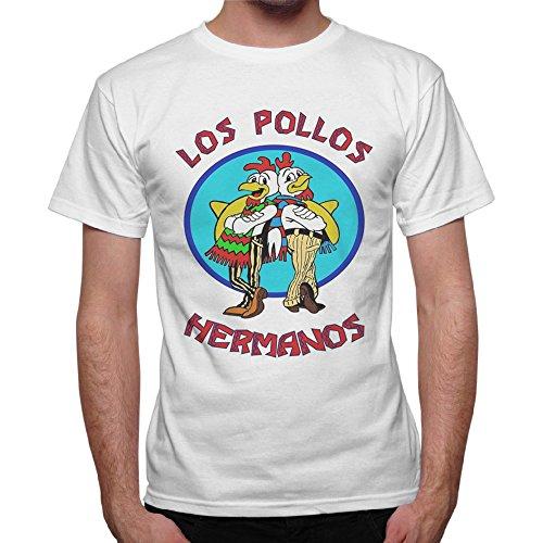 T-Shirt Uomo Los Pollos Hermanos Breaking Bad - Bianco