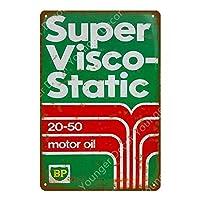 オートバイ車モーターオイル金属錫看板湾岸ガス油壁ポスターガレージ装飾ヴィンテージ金属塗装-20x30cm