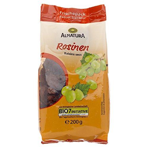 Alnatura Bio Rosinen, vegan, 6er Pack (6 x 200 g)