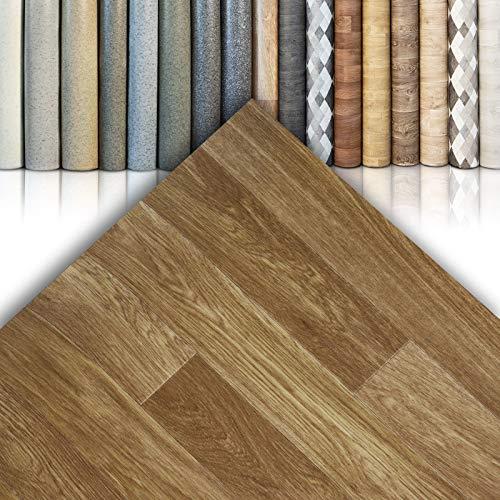 CV Bodenbelag Westwood S02 - extra abriebfester PVC Bodenbelag (geschäumt) - Eiche Rustikal - edle Holzoptik - Oberfläche strukturiert - Meterware (200x250 cm)