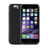 hardwrk Power-Case für iPhone 6 6s Plus - Schutzhülle Cover Case mit integriertem 7500 mAh Akku - schwarz