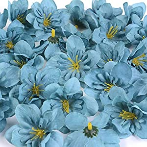 BoKa Store – 50Pcs/Lot DIY Wedding Home Decor Orchid Artificial Flower Head for Wreath Scrapbooking Box Gift Delphinium Fake Flower Craft Decorative Flowers
