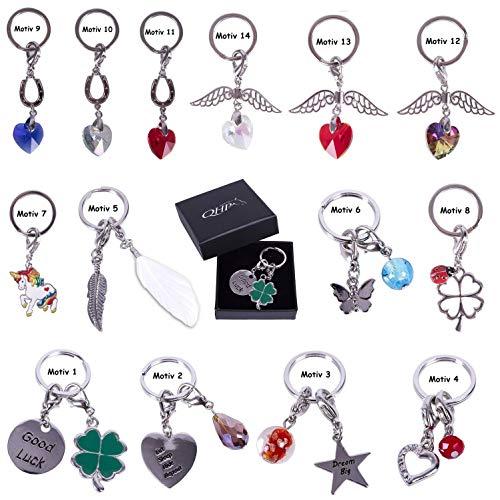 netproshop Schlüsselanhänger als Glücksbringer auch als Schmuck f. Fliegenohren/Halfter usw, Groesse:Motiv 1