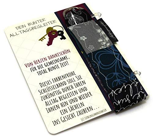 Lieblingsmanufaktur Abschiedsgeschenk für Lehrerin – von Herzen Dankeschön – Schlüsselanhänger mit Karte & Botschaft – zum Abschied danke sagen – persönliches Geschenk für Lehrer z.B. in Grundschule