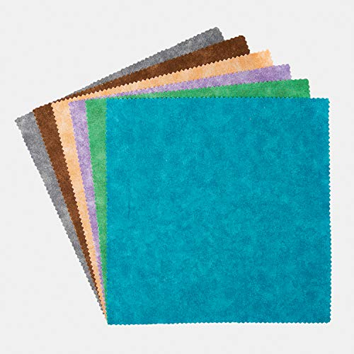 Connecting Threads Blender Collection Precut Quilting Cotton Fabric Bundle 10' Squares (Mirage Tonal)