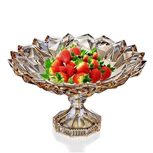 ZTMN Plato de Frutas, frutero, Bol de Cristal Europeo, Bocadillo de Sala de Estar, Cesta de Fruta de melón, Bol de Ensalada de Frutas, Bol de Pastel