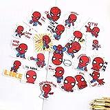 BUCUO Compte à la Main Autocollant Fait Maison étanche Mignon Dessin animé Personnage d'anime bâton de Marche Grand Livre décoration matériel Spiderman