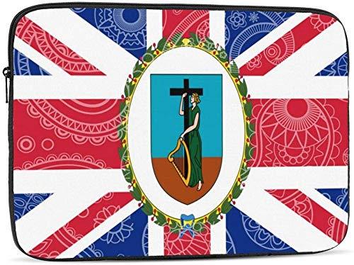 BONRI Funda para portátil con bandera de Paisley de Groenlandia compatible con estuche para ordenador portátil de moda de 10-17 pulgadas - Bandera de Paisley de Montserrat, 12 pulgadas