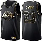 June Bart Camiseta de Baloncesto para Hombre,Mujeres Jersey Hombre - Los Angeles Lakers # 23 James Jerseys Transpirable...