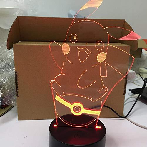 Ir a la figura de acción 3D ilusión atmosférica luz nocturna dormitorio niños regalo creativo lámpara de escritorio png