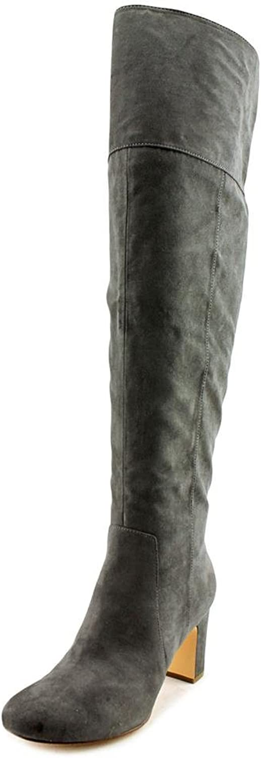 A35 Harrley Over-The-Knee Boots, Steel, 7 US