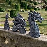 Garden Decoration Dragon Resin Gothic Garden Statues, Dragon Animal Figures, Animal Statues, Garden Figures, Lucky Dragon, Garden Figure, Fantasy, Ornaments for Patio, Front Garden, Lawn