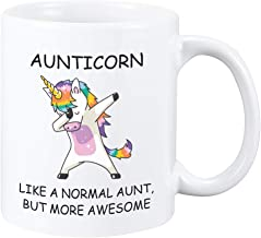 Perfectostore Unicorn Aunt Gift Mug – Best Aunticorn Ever Gifts from Niece or Nephew – Birthday or Mothers Day Gift Idea for Aunts, Mother, Grandma 11oZ Perfectostore Gift Mug (Aunt)