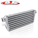 AJP Distributors Universal 30.75' X 11.75' X 3' Aluminum Tube & Fin 3.0' Inlet/Outlet FMIC Front Mount Intercooler High Flow Performance Racing Light Weight Turbo Super Charger Boost Cooling System