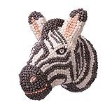 PlayMais Home – Cabezas Decorativas de Animales DIY | Cabeza de Zebra para Colgar en la Pared | para niñas y niños de 5 años en adelante - 9.000 Piezas Mosaic | Manualidades para niños
