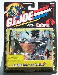 GI JOE Vs. COBRA Gung-Ho Variant (with no Beard) vs. Destro (Blue Uniform) Ac...