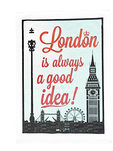 Half a Donkey London - is Always a Good Idea - Large Cotton Torchon from