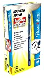Paper Mate Replay Premium Penna Gel Cancellabile, Punta Media da 0,7 mm, Blu, Confezione da 12