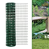 <span class='highlight'><span class='highlight'>Simpa</span></span> Multipurpose 1M x 10M - Green PVC Coated Galvanised Steel Wire Garden Fencing Roll – Mesh Hole Spacing 10.16cm x 5.08cm