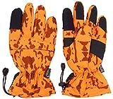Hunter - Guantes para perros (unisex, talla L), diseño de camuflaje, color naranja